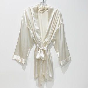 Victoria's Secret Cream Satin Romantic Robe
